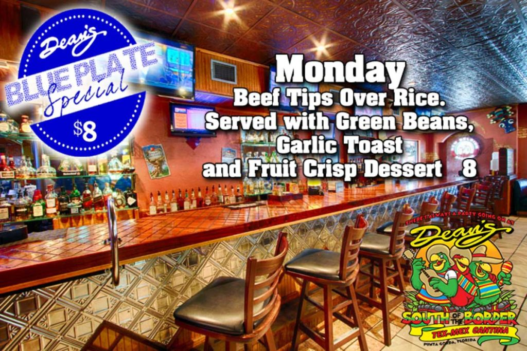 Monday Blue Plate Special