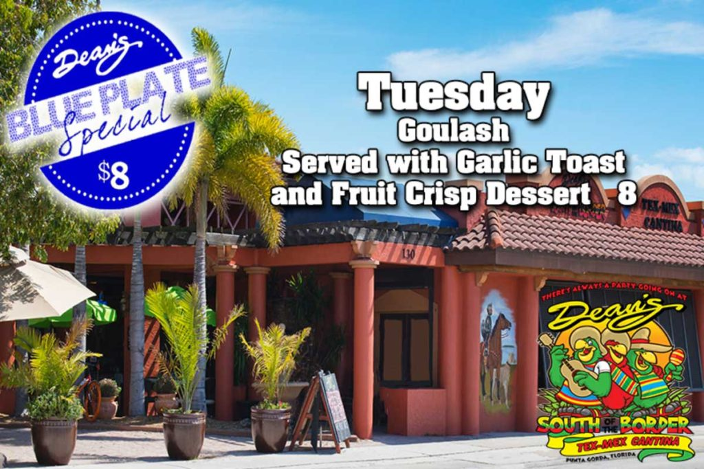 Tuesday Blue Plate Special