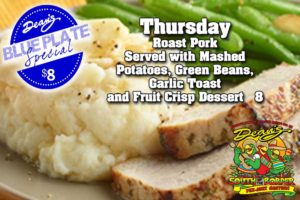 Thursday Blue Plate Special